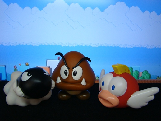 Super Mario Figure Collection – Bullet Bill / Goomba / Trout - PopCo Entertainment (2008)