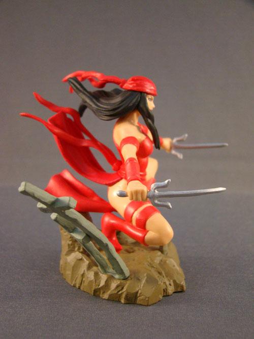 Marvel - Marvel Heroes #3 - Elektra HG Mini Figurine Statue - Bandai (2005)