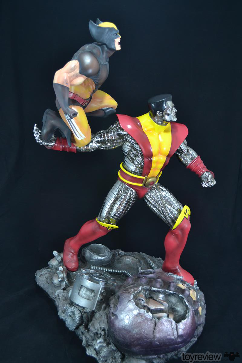 COLOSSUS_WOLVERINE_FASTBALL_SPECIAL_HALIMAW_SCULPTURES_DIORAMA_TOYREVIEW (73)