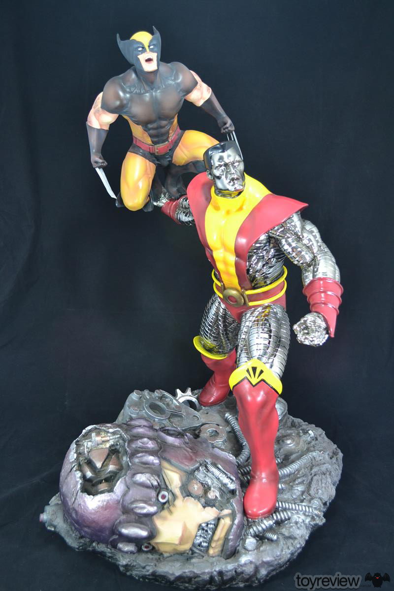 COLOSSUS_WOLVERINE_FASTBALL_SPECIAL_HALIMAW_SCULPTURES_DIORAMA_TOYREVIEW (81)