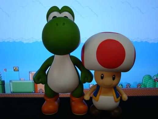 Super Mario Figure Collection – Yoshi & Toad - PopCo Entertainment (2008)